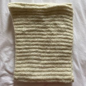Cream/Silver Infinity Scarf